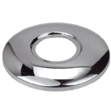 Curved Chrome Plated Brass Wall Flange Shroud 1/2 - 74000256